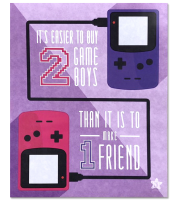 Griffin McElroy Quote Gameboys Print