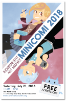 MiniComi Vancouver 2018 official poster and postcard